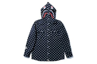 A Bathing Ape Shark Dot Shirt Hoodie