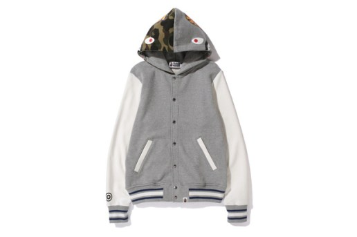 A Bathing Ape SHARK SWEAT VARSITY HOODIE JACKET