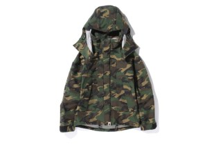 A Bathing Ape WOODLAND CAMO GORE-TEX SHORT SNOWBOARD JACKET