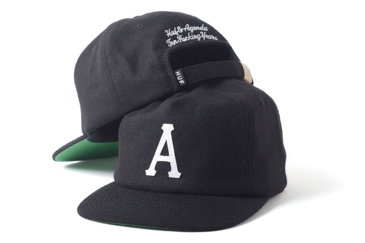 Agenda 10th Anniversary Caps with SSUR, HUF and Staple Design
