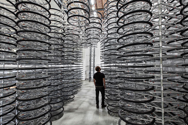 ai weiweis stacked installation features 760 bikes