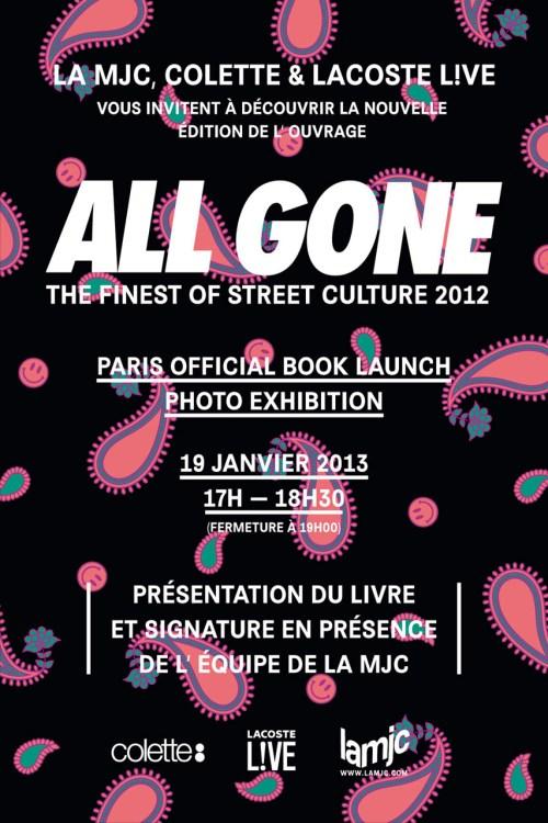 ALL GONE 2012 Paris Launch