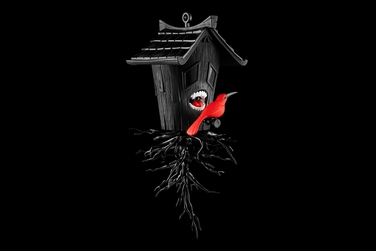blaine fontana x kidrobot black domestic hunger