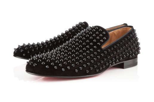 Christian Louboutin Rollerboy Spikes Flat Veau Velours