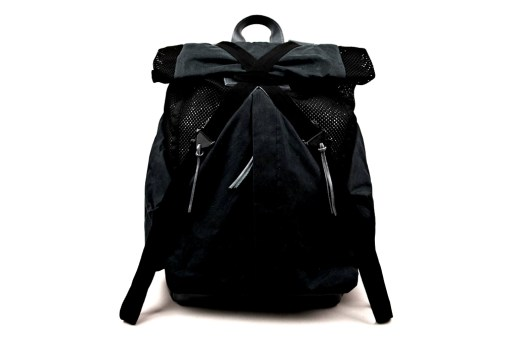 Christopher Raeburn Mesh and Waxed Cotton Rucksack