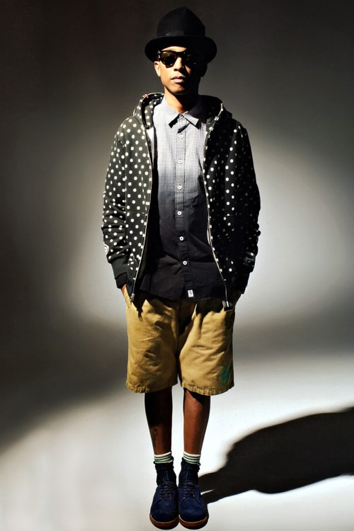 Pharrell williams models billionaire boys club and a bathing ape hypebeast - Pharrell williams design ...