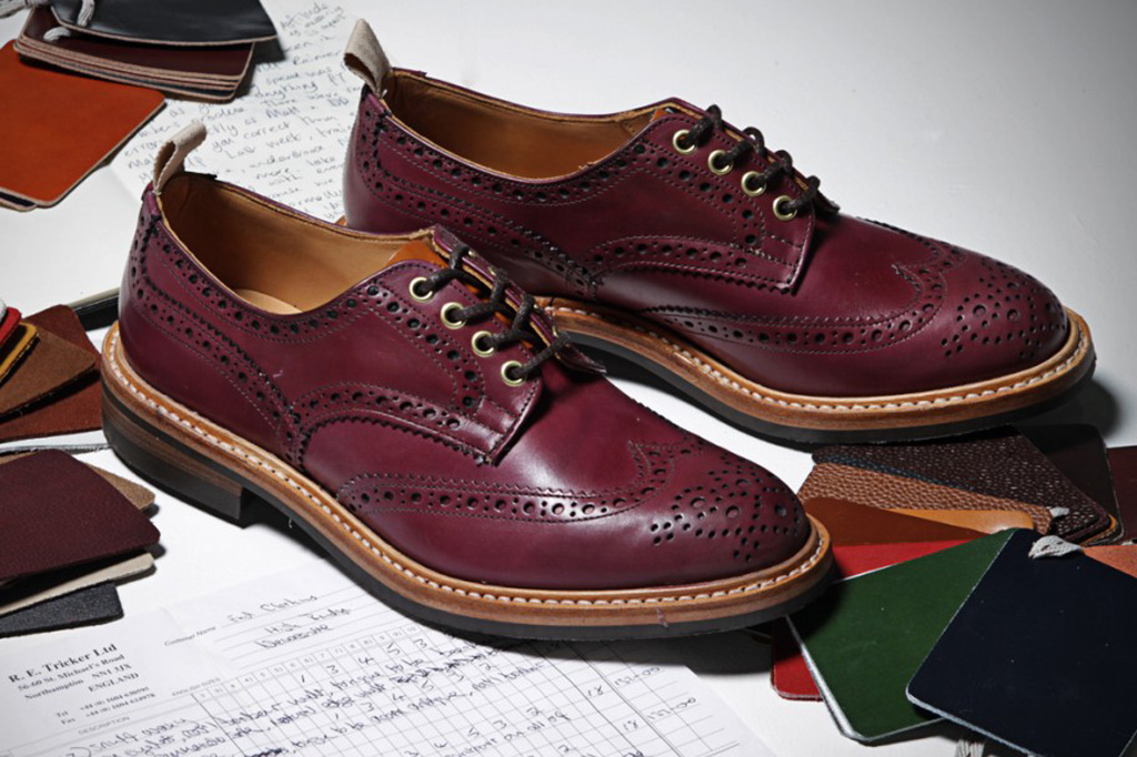 end hunting co x trickers oxblood brogues