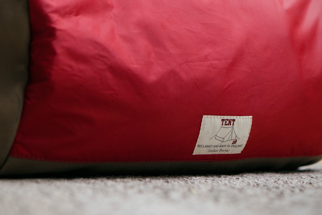 esther porter tent barrel bag