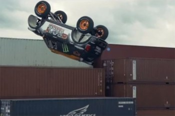 French Daredevil Guerlain Chicherit Attemps First Unassisted Backflip in MINI Cooper
