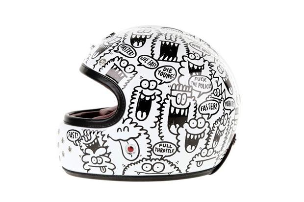 kevin lyons x les ateliers ruby castel gabriel helmet