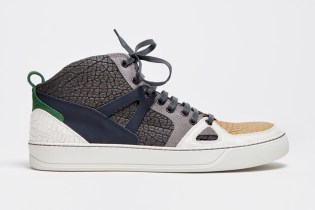 Lanvin 2013 Spring/Summer Mid Top Sneaker Textured Grey