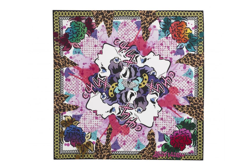 Louis Vuitton Foulards D'Artistes by RETNA, Aiko and Os Geméos