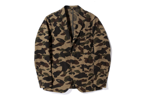 mr bathing ape 2013 spring mr 1st camo seersucker 3button jacket