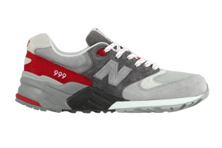 "New Balance ML999 ""Grey/Fire Red"""