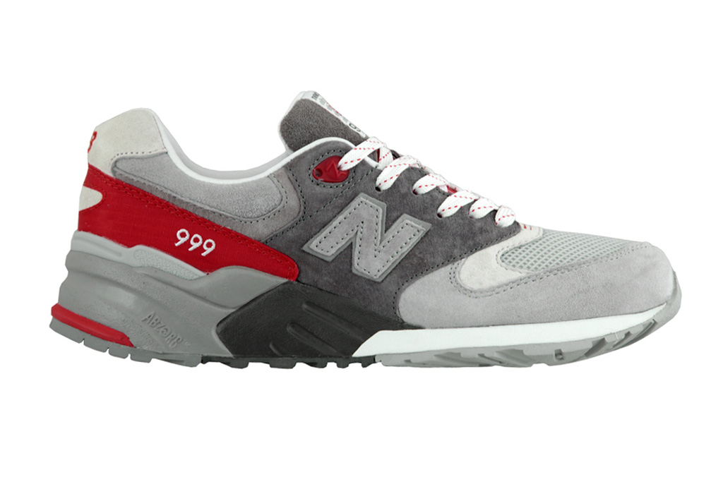 new balance ml999 grey fire red