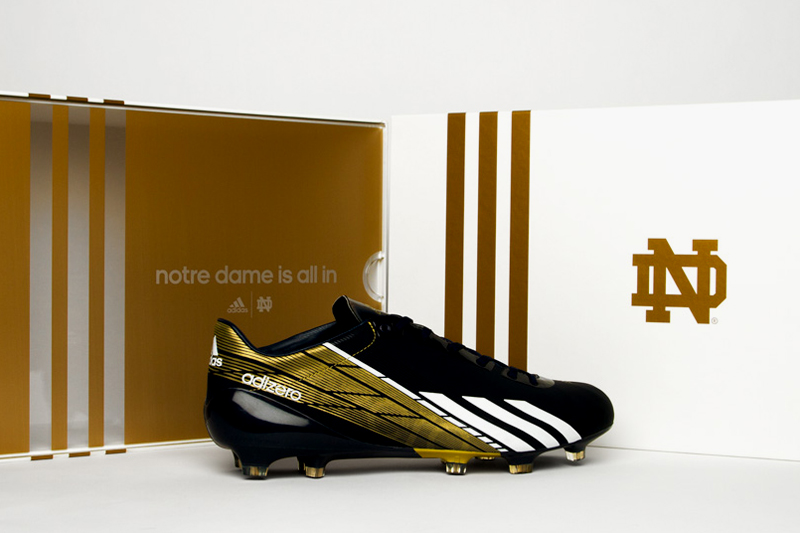 notre dame to debut new adidas adizero 5 star 2 0 in national championship game
