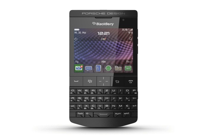 Porsche Design P'9981 BlackBerry Smartphone