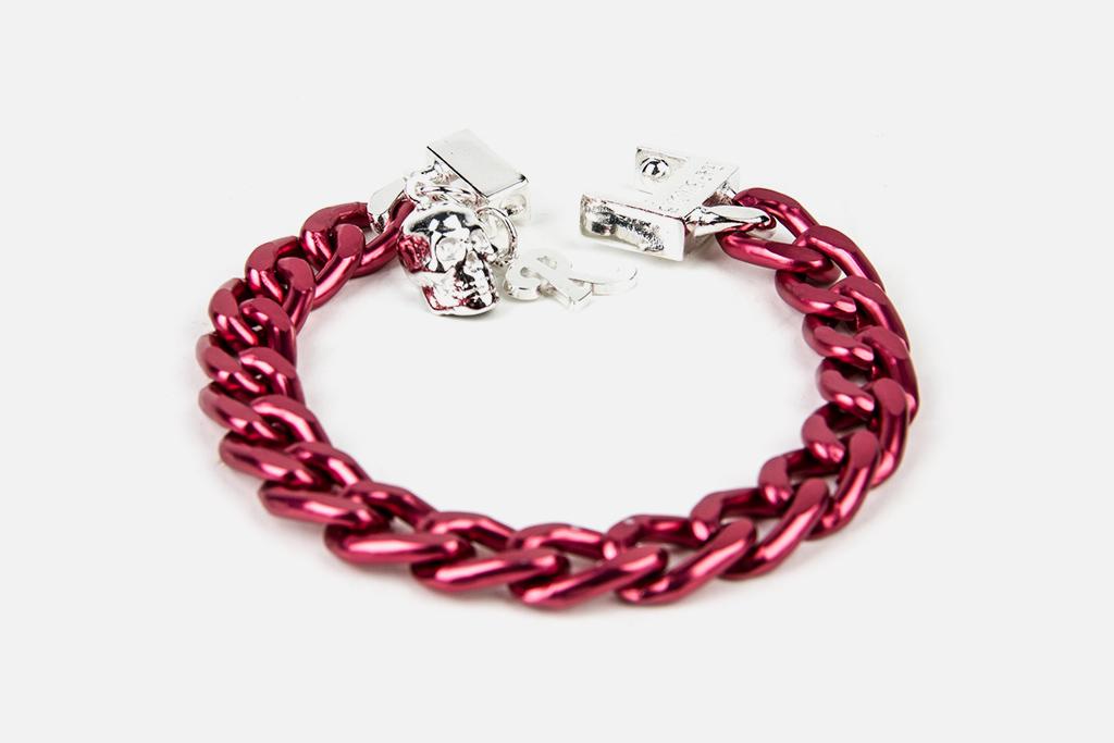 Raf Simons x Atelier 11 Fuchsia Aluminium Bracelet