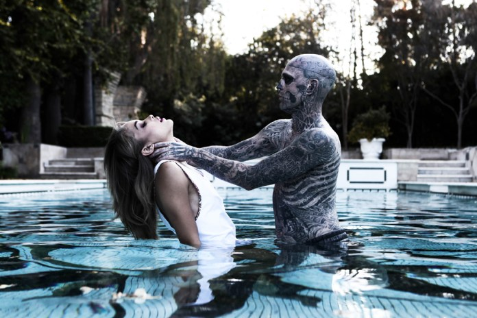 "Rick Genest and Jasmine Sanders Shot by Matt Plunkett ""Beauty & the Beast"""