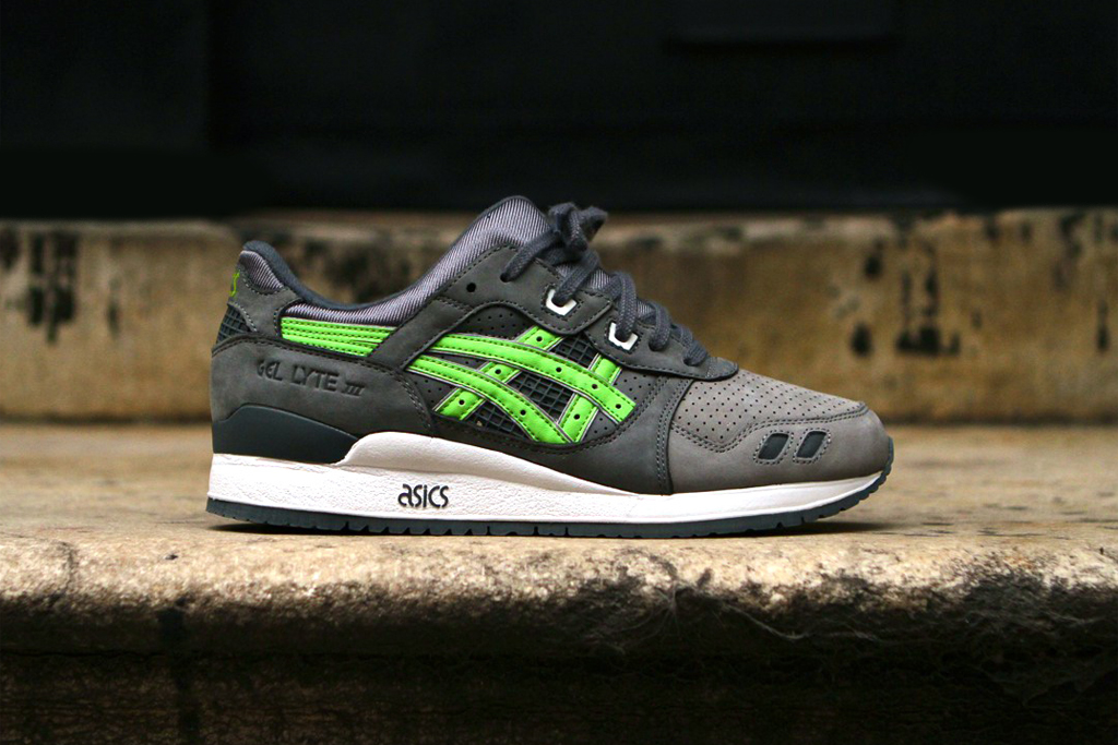 ronnie fieg x asics gel lyte iii super green for soles4souls