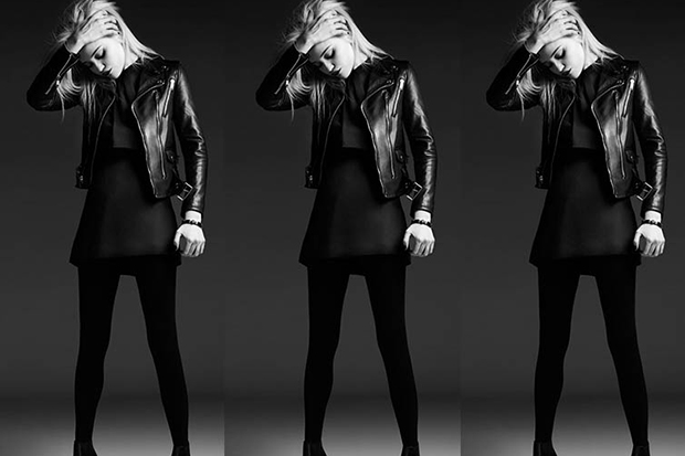 sky ferreira models the saint laurent 2013 pre fall collection
