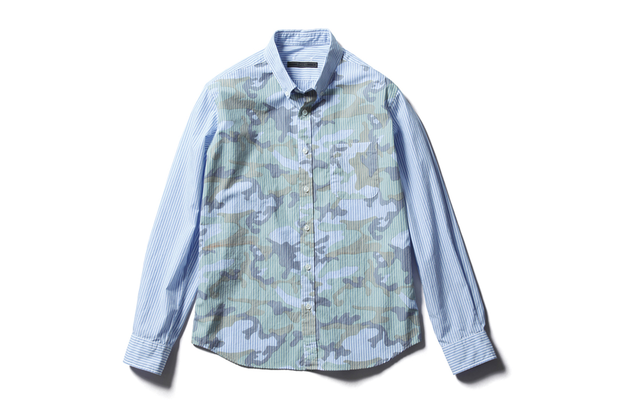 http://hypebeast.com/2013/2/sophnet-camouflage-over-print-button-down-shirts