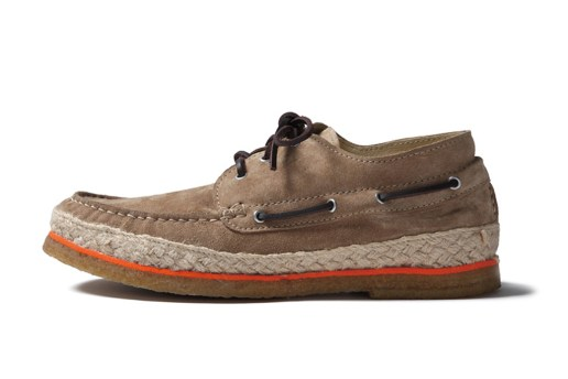 SOPHNET. Leather Deck Moccasin