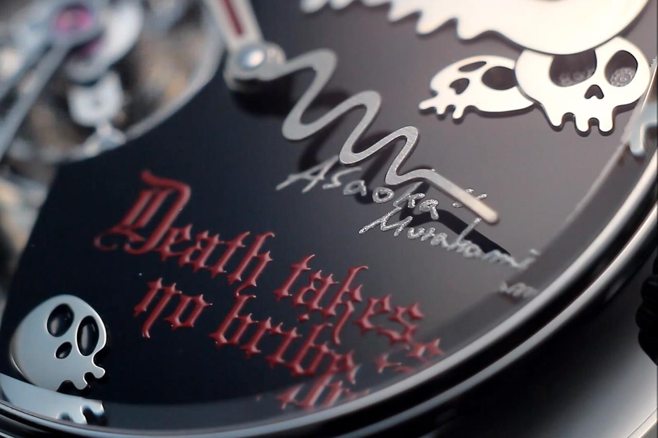"""Takashi Murakami x Hajime Asaoka """"Death Takes No Bribe"""" Tourbillon Watch"""