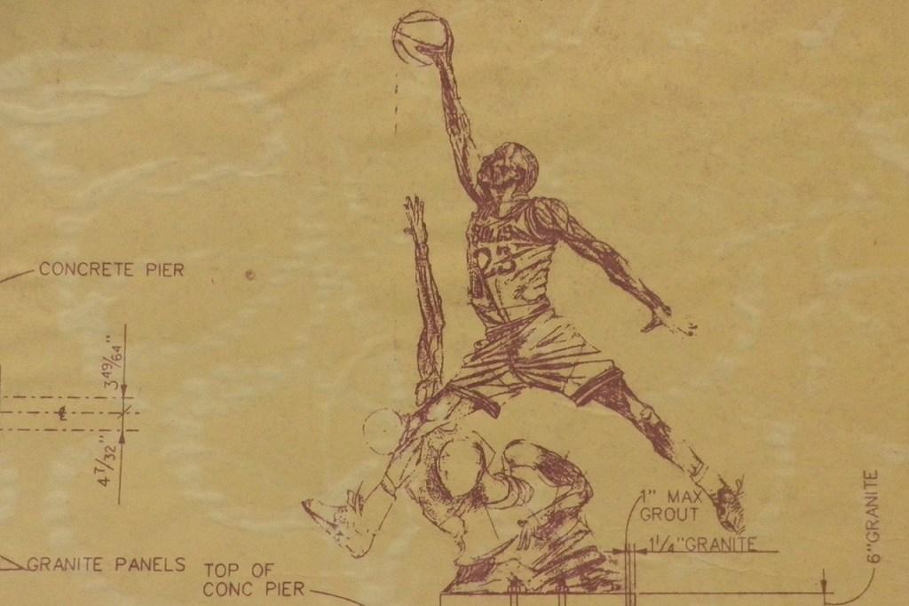 The United Center Michael Jordan Statue Blueprint