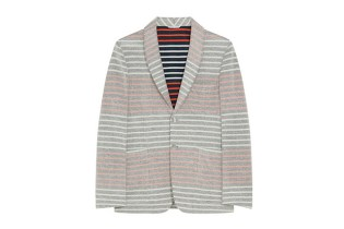 Thom Browne Border Pile Jacket