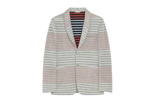 Thom Browne Border Pile Jacket