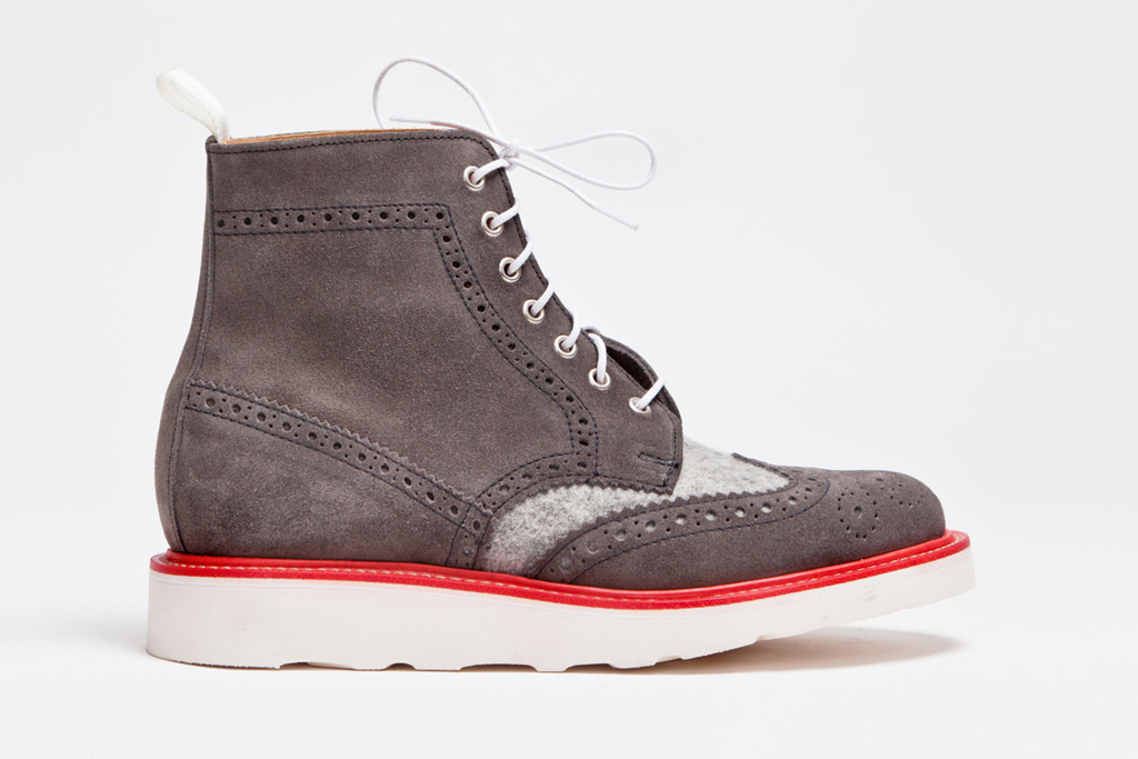 tres bien x mark mcnairy wool suede brogue boots
