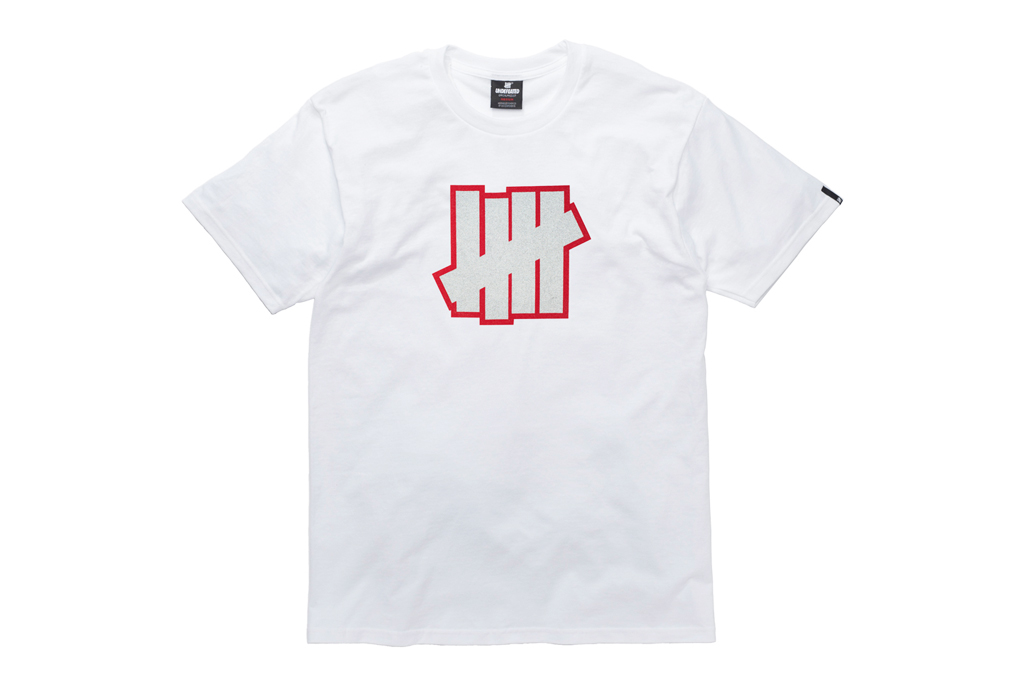 Undefeated 5 Strike 3M Fire Red T-Shirt
