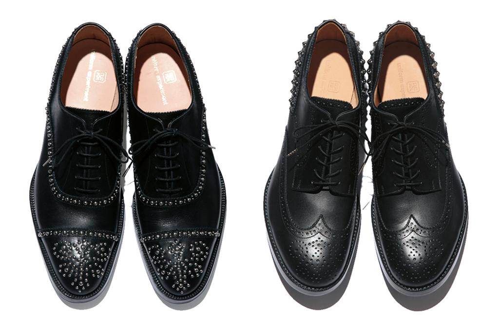 uniform experiment x authentic shoe co 2013 spring summer stud shoes