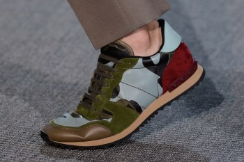 Valentino 2013 Spring/Summer Panelled Leather and Suede Sneakers