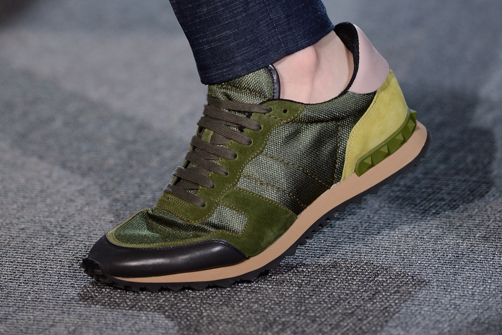 valentino 2013 spring summer panelled leather and suede sneakers