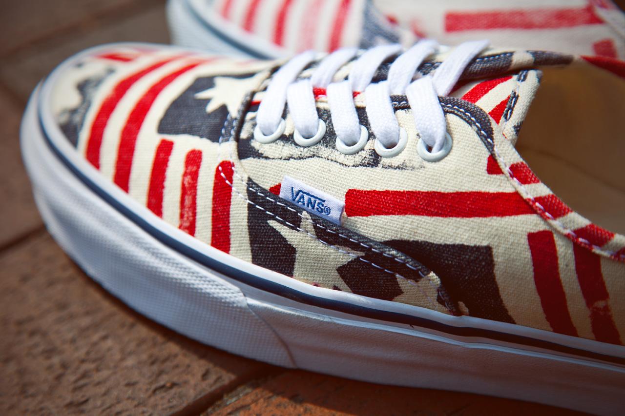 """Vans California Van Doren Series 2013 Spring Authentic CA """"Retro Flag"""""""