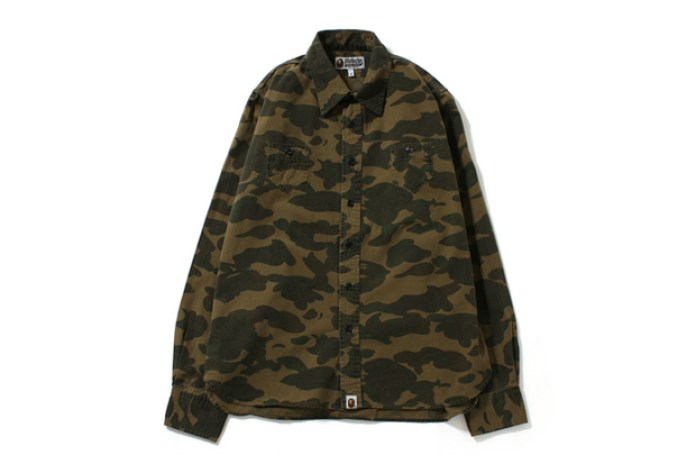 A Bathing Ape 1ST CAMO CHAMBRAY SHIRT