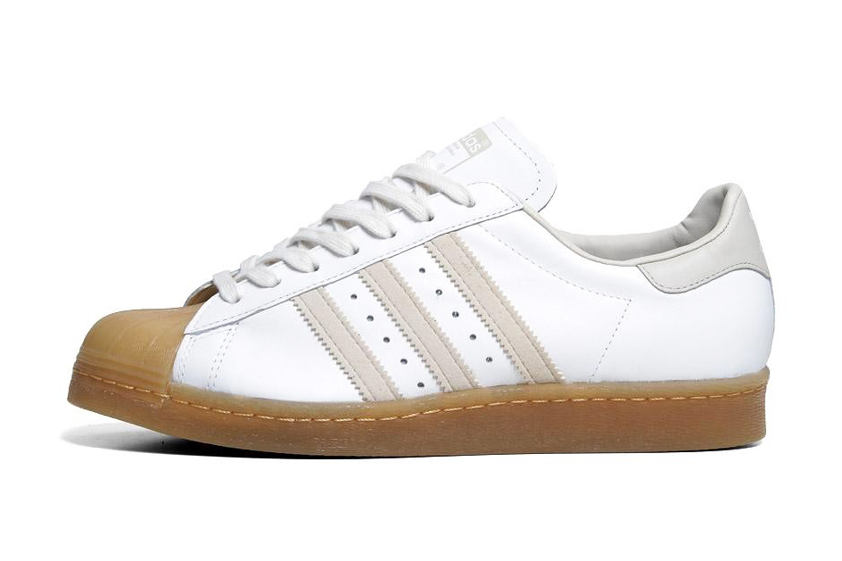 adidas originals 2013 spring superstar 80s white gum