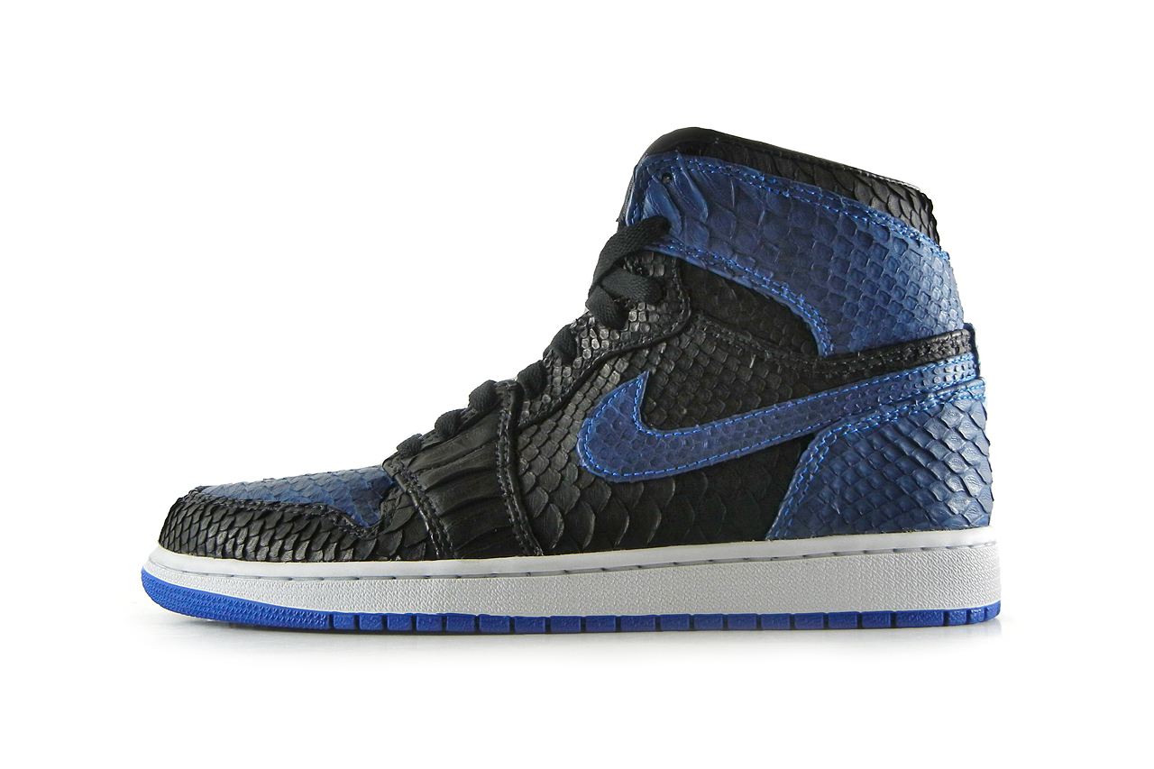 "Air Jordan 1 Black/Royal ""Python"" by JBF"