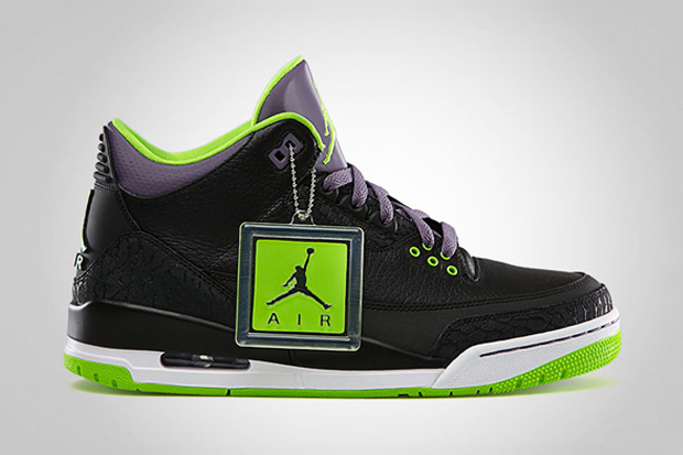 air jordan iii black electric green