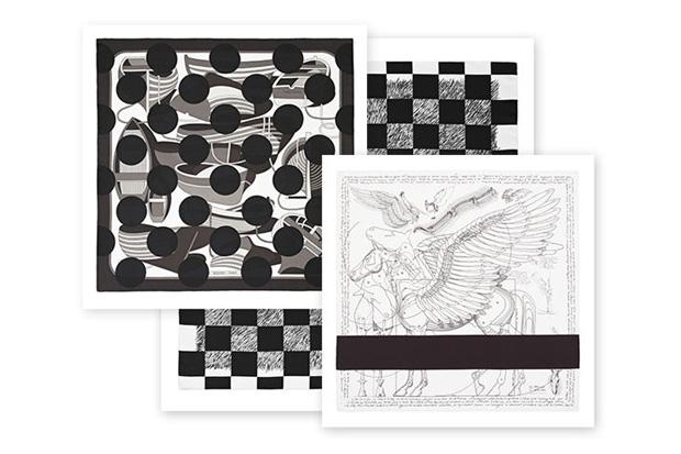 comme des garcons x hermes comme des carres black and white collection