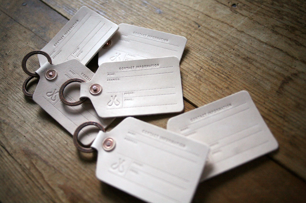 Corter Natural Vegetable-Tanned Leather Luggage Tag