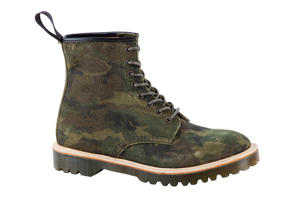 dr martens 2013 fall core premium 1460 green camo suede boot