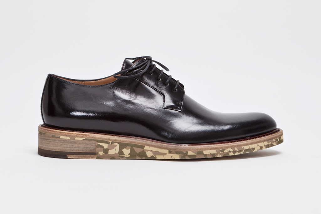 dries van noten derdy shoe black camouflage