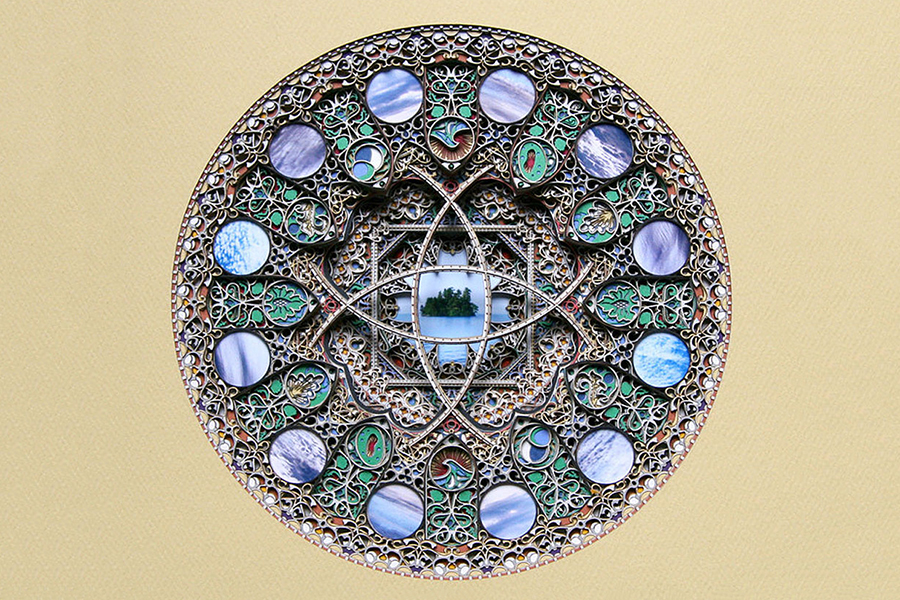 Eric Standley's Laser-Cut Paper Stained Glass Windows