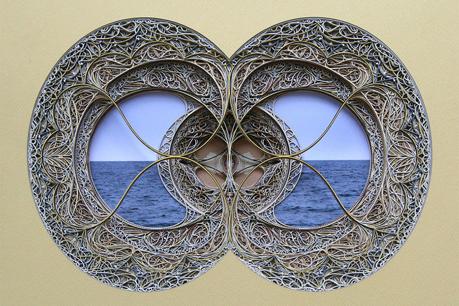 eric standleys laser cut paper stained glass windows