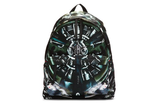Givenchy Black Leather Trimmed Airplane Print Backpack