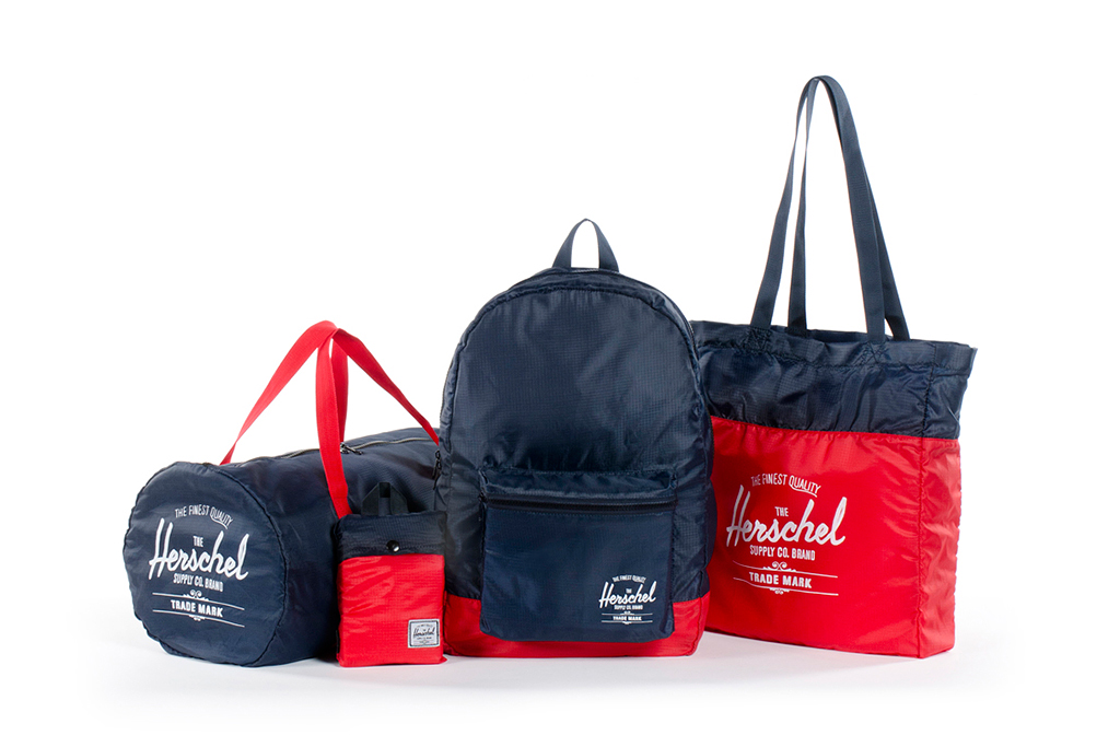 herschel supply co 2013 spring packable collection
