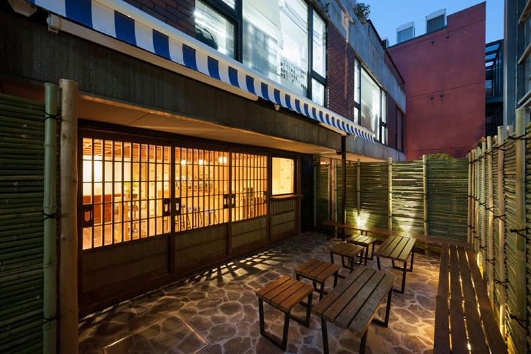 inside maison kitsune and kitsune cafe tokyo